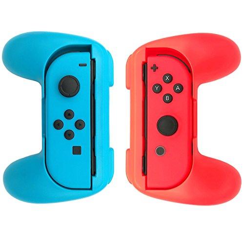 WindTeco Nintendo Switch Joy-con Grip, [2 Unidades] Ultimate Comfort Grip para Nintendo Control Joy-Cons Left & Right Controllers, Azul/Rojo
