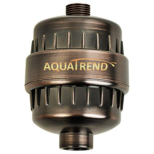 AQUATREND Oil-Rubbed Bronze Universal 15-Stage Shower Filter Shower Head Filter for Hard Water...