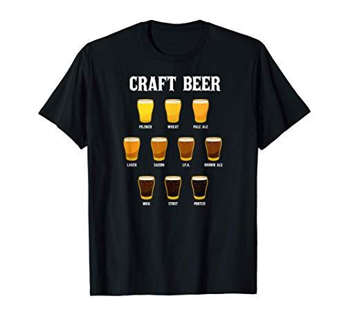 Cervecería Degustación Cervezas Caseras Cervecero Camiseta