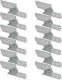 KOTARBAU® 12er Set Sparrenanker 170 x 40 mm Links Stahlwinkel zum Verstärken von Holzkonstruktionen (170 x 40 mm, Links)