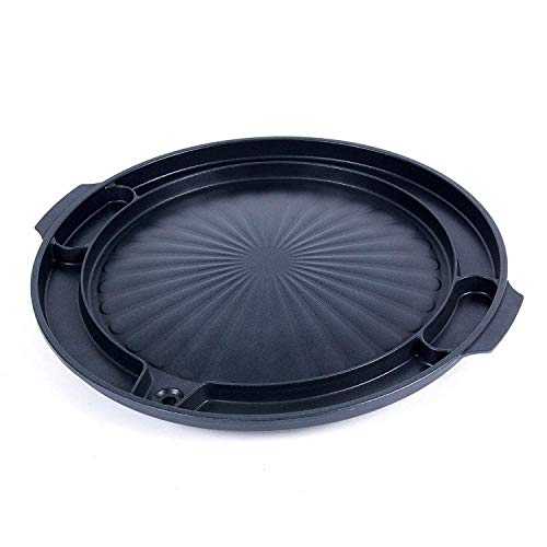 CookKing - Master Grill Pan, Korean Traditional BBQ Grill Pan - Stovetop Nonstick Indoor/Outdoor Smokeless BBQ Cast Aluminum Grill Pan