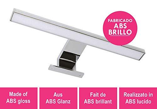 LED wandlamp 30 cm voor spiegel of badkamermeubels, lamp voor spiegel of badkamermeubels LED 6000 K voor badkamerinbouw, installatie op meubels of badkamerspiegels. Lichtsoort koudwit