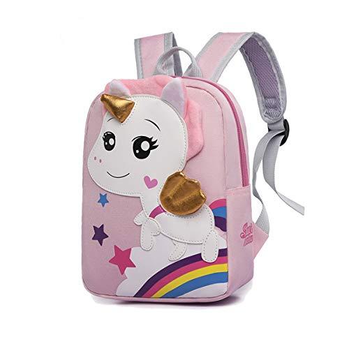 Kids Dinosaur Backpack Kindergarten School Bags Children Mini Backpack Cartoon Rucksack for Toddler Boys Girls (Kids Backpack for Pink Unicorn)