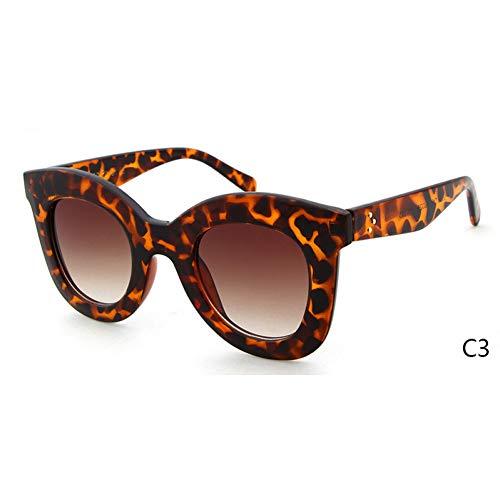 ZRTYJ Gafas de Sol Gafas de Sol con Ojo de Gato Blanco Cl Shadow Women Superstar Kim Kardashian Audrey Gafas de Sol con Tapa Plana de Cateye Sombras