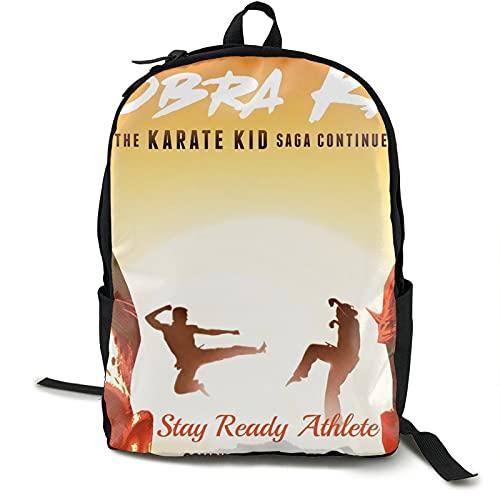 Cobra Kai - Mochila para portátil con mochila para mujer y hombre, estilo vintage, mochila universitaria, bolsa de viaje, bolsa de libros para portátiles