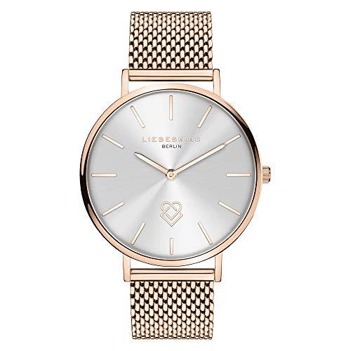 Liebeskind Berlin Damen Analog Quarz Uhr mit Edelstahl Armband LT-0250-MQ