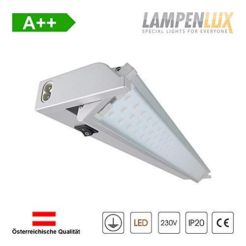 Lampenlux LED Unterbauleuchte Ajax Küchenlampe mit Stromkabel 10W 230V Warmweiß