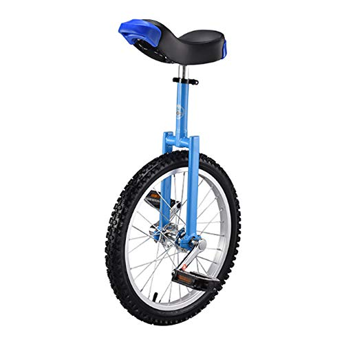 Niguleser Unicycle, 16' Wheel Trainer Unicycle, 2.125' Skidproof Butyl Mountain Tire, Adjustable seat Height, Children Adult Balance Cycling Exercise,Blue