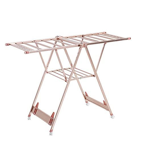 CCXX Tendedero de Aluminio Balcón Plegable de Piso a Techo Tendedero Tendedero para Bebé Doméstico,Rosegold
