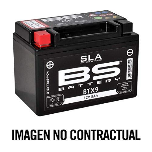 BS Battery 300672 BTX7A AGM SLA Motorrad Batterie, Schwarz