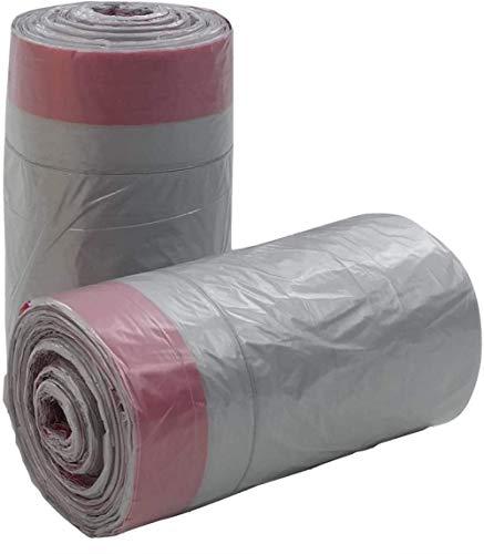 Cfbcc Küchenmüllsack Caddie Eimer Liner mit Müllsack 50L grau 125 Stück von Müllsäcken Tunnelzug und Säcke
