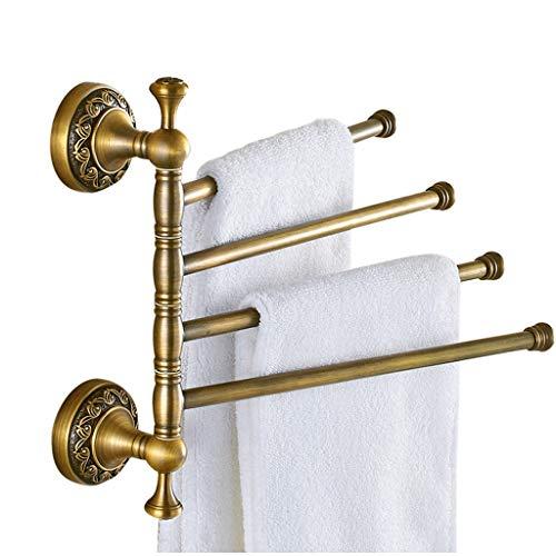 LYMJJ Montado en la Pared oscilación de Toallas, Toalla de baño y Cocina giratoria en Rack de Colgar Titular Organizador, Plegable for Ahorrar Espacio toallero