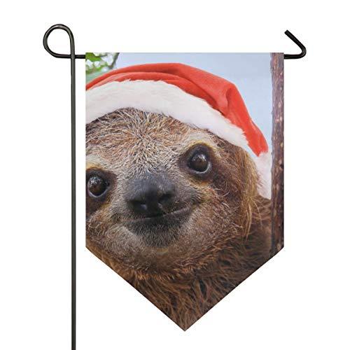 XiangHeFu Garden Vlag schattige luier Kerstmis Sinterklaas 12 x 18,5 inch (12
