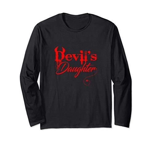 Camiseta divertida de la hija del diablo disfraz de Manga Larga