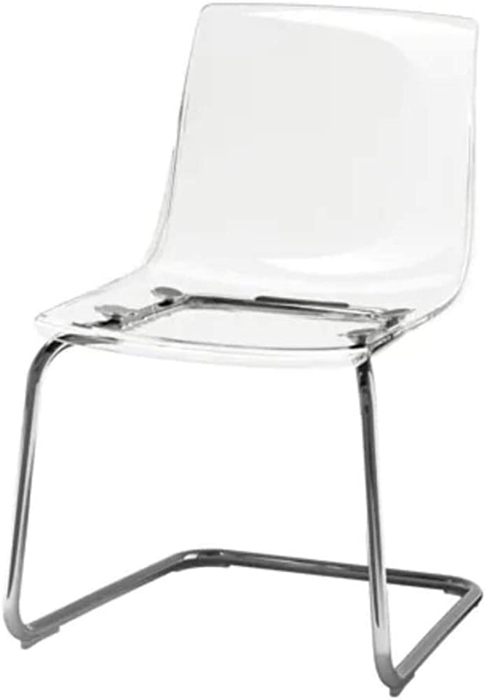 Ikea tobias, sedia trasparente,in acciaio  cromato e policarbonato 803.496.71