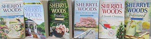 Author Sherryl Woods Six Book Set Bundle Collection, Includes: Safe Harbor - Treasured - A Seaside Christmas - Dogwood Hill - Amazing Gracie