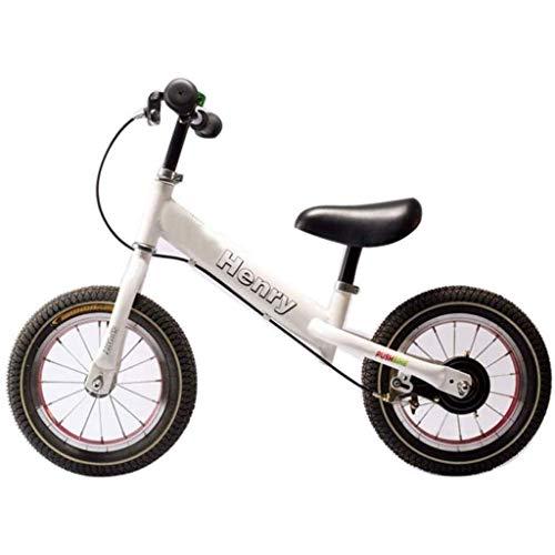 Balance Bike - Balance Fahrradbremsen, Smooth Bike 2-6 Jahre alte Kinder Roller, weiß (ohne Pedal Zweirad-Fahrrad) (Color : White)