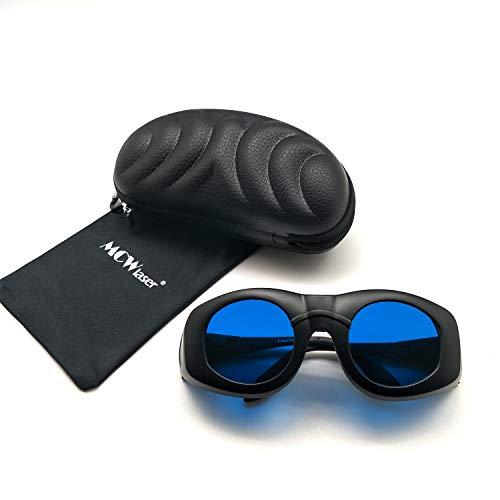 MCWlaser 0D6 + Laser Safty Schutzbrille Brille Breites Spektrum Kontinuierliche Absorption Typ Für 808nm 980nm 1064nm (600-1100nm) EP-15 Brillen Für Myopie EP-14