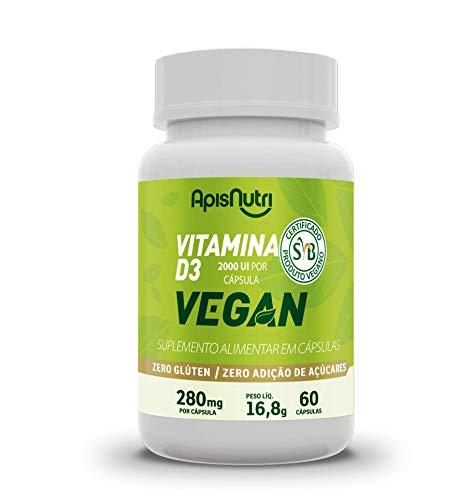Vitamina D3 Vegan - 280mg (60 caps), Apisnutri