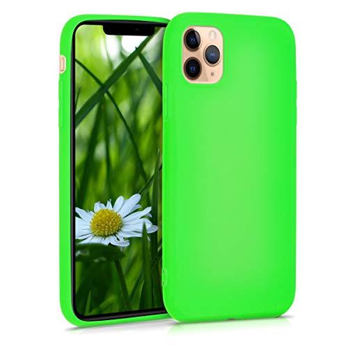 kwmobile Custodia Compatibile con Apple iPhone 11 PRO - Cover in Silicone TPU - Back Case per Smartphone - Protezione Gommata Verde Fluorescente