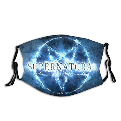Supernatural TV Show Face Mask Winchester Fans Merchandise Decorations Mask with 2 Filter Supernatural 15 Years TV Show Symbol Gifts for Women Men