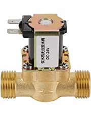 24V BSPP G1/2 Válvula Solenoide, Electroválvula N/C de Latón, 2 Vías Normalmente Cerrada, Anticorrosión, Resistente a Humedad y Altas Temperaturas, para Aire Acondicionado, Industria del Agua