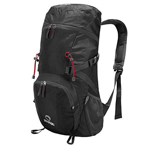 Prospo 40L Leichter Faltbarer Wanderrucksack Camping Rucksack Klettern Tasche Große Packable Travel Daypack für Wandern Camping