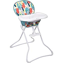 Suitable from 6 months to maximum weight of 15 kg Lightweight at only 5.4 kg Stands alone once folded - only 15 cm wide Removable, three position adjustable tray Two position footrest Folds easily so it can be conveniently stored The wipe able seat p...