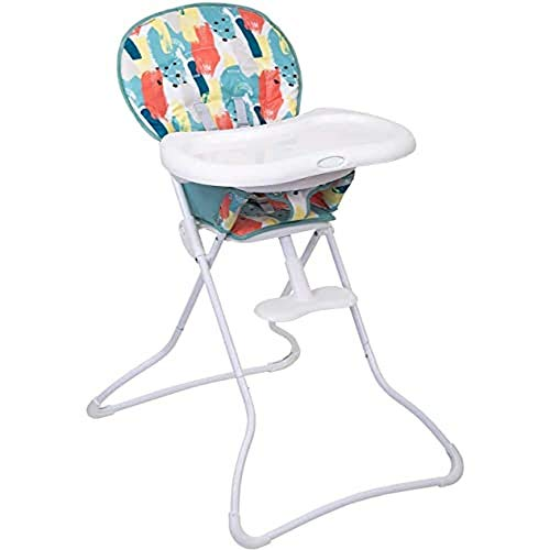 Graco Snack N' Stow Compact Highchair, Lightweight with Freestanding Fold, Paintbox