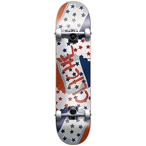 Cliché Mid 7.25Glitter Multi, Skateboard Completo, Multicolore Dimensioni 7,25