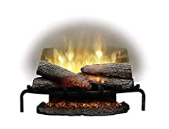 Flames are larger, brighter and more random, appearing from within the logs Partially frosted Acrylic panel is clearly better than a mirror, showing only dazzling flames and no Reflections See clear through the flames to the back of a masonry firepla...