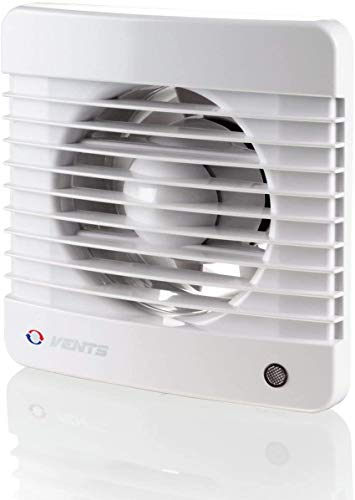 Vents 100 Silenta MT K - Ventilador extractor de baño, silencioso, con temporizador, Blanco brillante