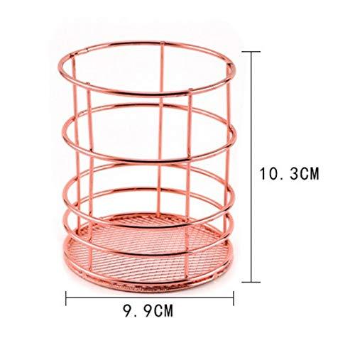 Beste kwaliteit - opbergbaskets - nordic rose goud metaal iron opbergbasket combinatiehouder desk desktop accessoires stationaire organizer - door Rocco - 1 pc A - L