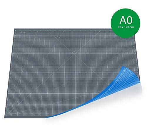 CE² - SCHNEIDEMATTEN Profi XXL 5-LAGIGE Schneidematte, Schneidunterlage, selbstheildend Grau/Blau beidseitig mit Raster (90x120cm)