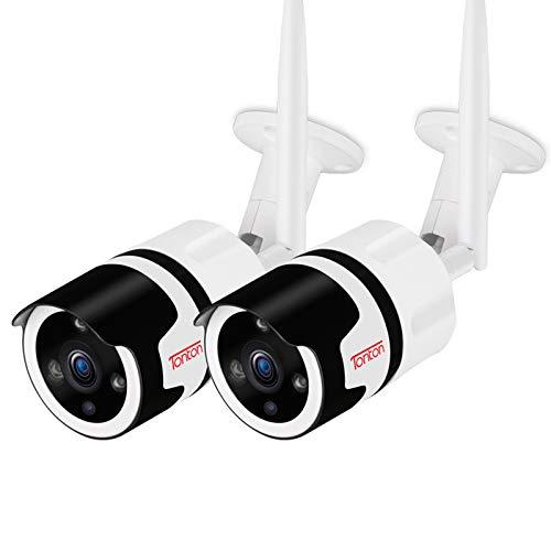 Tonton Telecamera IP 1080P HD, audio a due vie, telecamera di sorveglianza per esterni con connessione LAN & WLAN, Outdoor WiFi impermeabile, visione notturna, Smartphone & Tablet & Windows