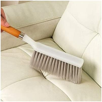 Woogor Bristle and Wood Carpet and Upholstery Long Handle Dust Cleaning Brush, 36x7.5cm (Random)