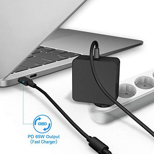 65W USB C Netzteil Type C AC Adapter PD Netzteil, Notebook Ladegerät für Lenovo, ASUS, Acer, Dell, Xiaomi Air, Huawei Matebook,Apple MacBook Pro, HP, Thinkpad und Anderen Laptops Typ C Charger