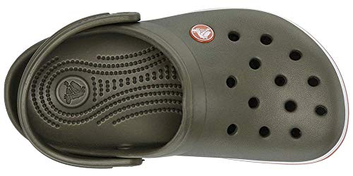 Crocs Kids' Crocband Unisex Clogs, Green (Army Green/Burnt Sienna 3tb), 13 UK Child 30/31 EU