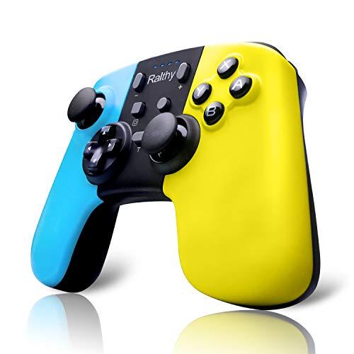 Ralthy Wireless Switch Pro Controller für Nintendo Switch, Bluetooth Wireless Remote Controller für Nintendo Switch/Lite, Switch Gamepad Joystick Joypad mit 6-Achsen Turbo Dual Shock Gyro Achse