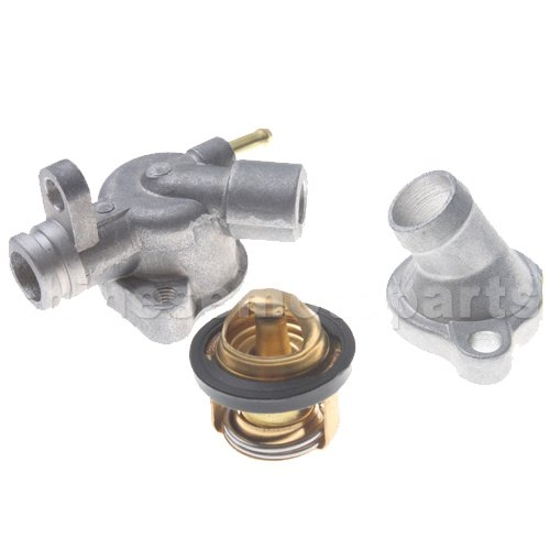 GOOFIT Thermostat Switch for Honda Elite 250cc Honda Helix CF250cc CH250cc Water Cooled ATV Go Kart Moped Scooter Engine