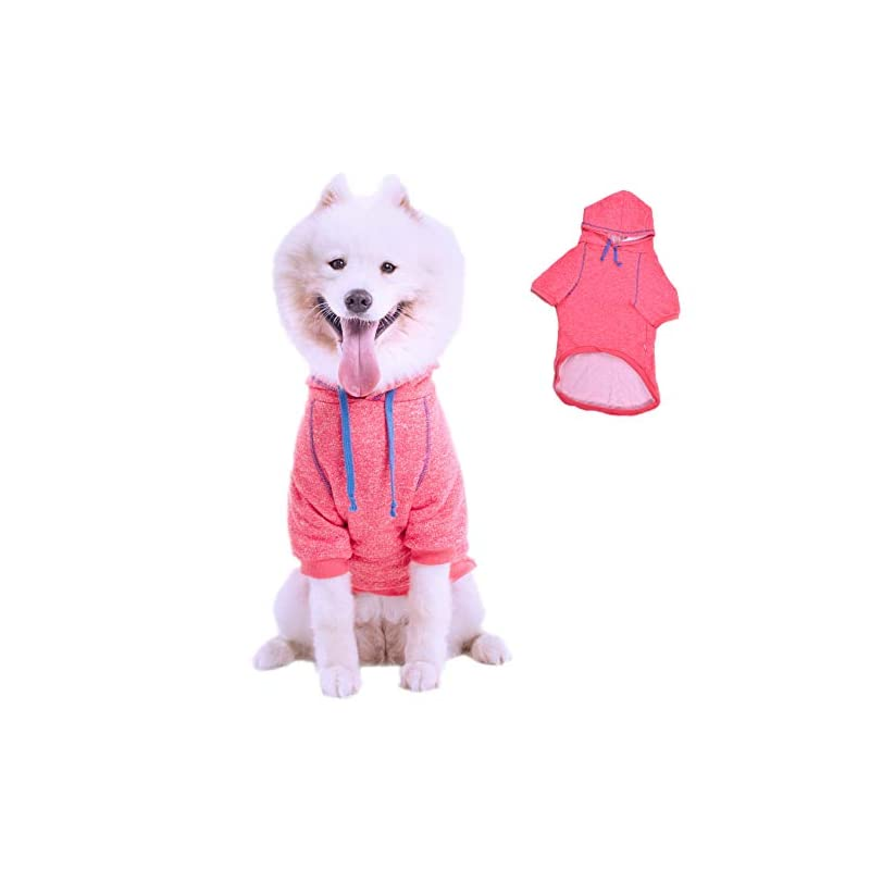 dog supplies online leowow dog sports clothes dog winter coat dog hoodie puppy sweater pet hoodie for medium or large size pet-pink-3xl