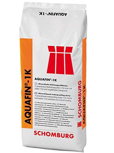 SCHOMBURG AQUAFIN-1K Mineralische Dichtungsschlämme Starr Abdichtung 25 KG Grau