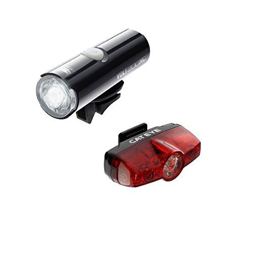 CatEye Volt 200 XC Juego de Luces y reflectores para Ciclismo–Negro