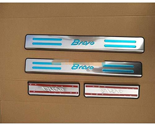 Para Fiat Bravo 2007 To 2019 Coche Tiras De Umbral, AutomóViles Acero Inoxidable ProteccióN Pedal De DiseñO Accesorios