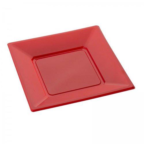 SPSS Assiette carrée Rouge petite