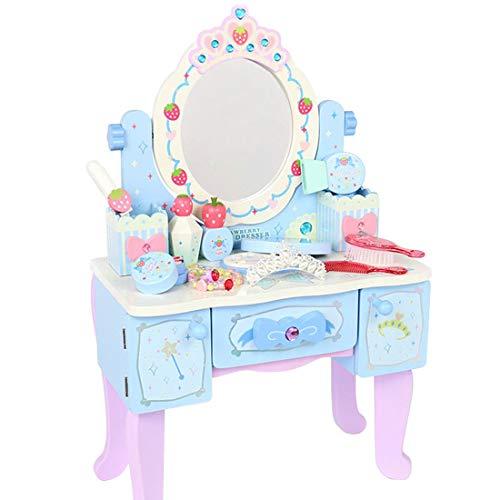 マザーガーデン おままごと プリンセス風 ティアラ ドレッサー ブルー オーロラ 〔女の子 おもちゃ 木製 お...