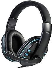 SANON Spelheadset för PS4, Stereo surroundljud med mikrofon, 3,5 mm port headset hörlurar brusreducerande headset, för PS4/Xbox One S/One/PC/Switch
