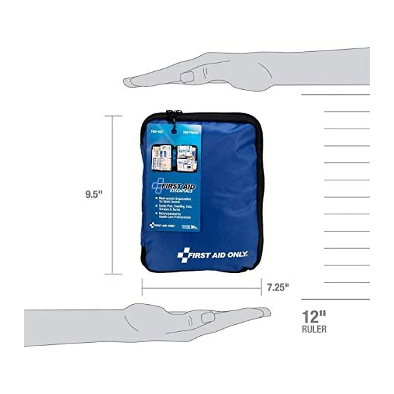 First aid only all-purpose medical first aid kit, 320 pieces emergency kit of first aid supplies 5 contains 299 essential first aid supplies for treating minor aches and injuries clear plastic liner in nylon case for organization and easy access to first aid supplies in an emergency soft sided, zippered case ideal for home, travel and on the go use