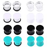 Jusway Gauges for Ears Saddle Ear Plugs and Tunnels Ear Gauges Stretching Kit Lobe Piercings 2G 6mm(16PCS)