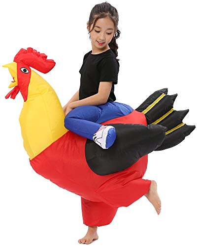 Disfraz de gallo inflable de gallina de gallina de ciervo de noche de Halloween Animal Fancy Dress - - Large